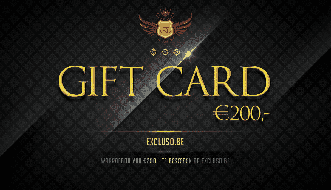 Excluso.be Gift Card €200,-