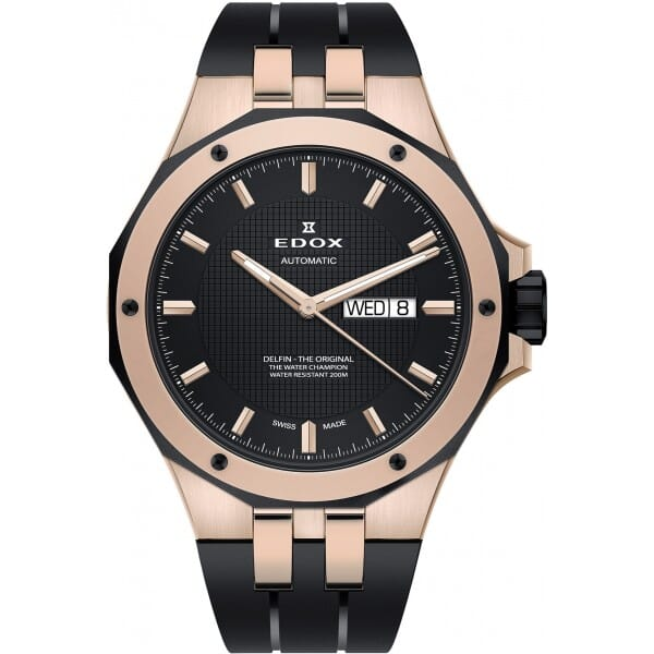 Edox 88005 357RNCA NIR Delfin Heren Horloge