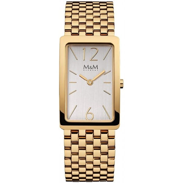 M&M Germany M11902-233 Square line Dames Horloge
